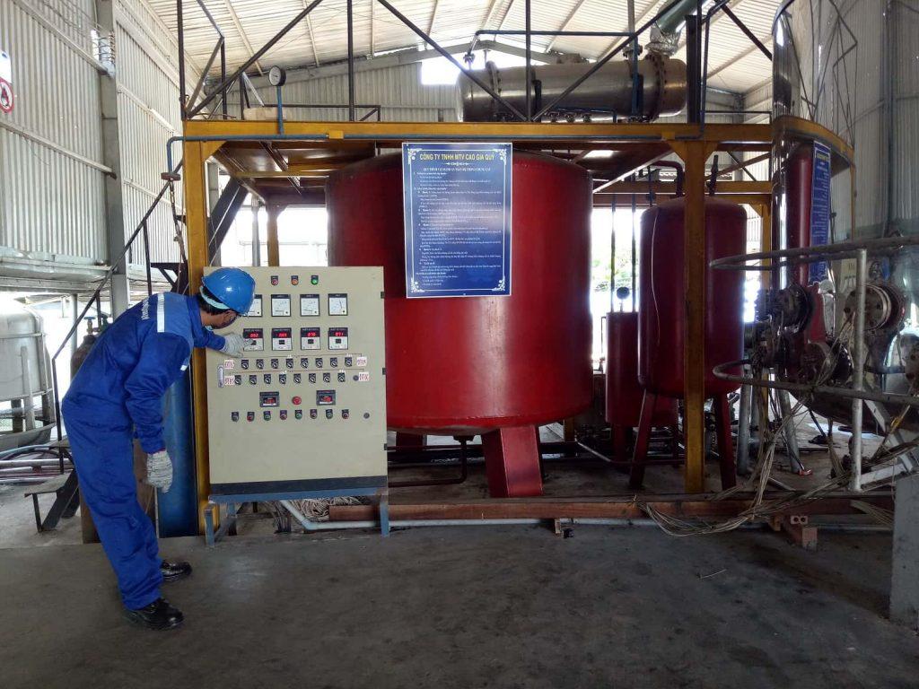 Hệ thống xử lý tái chế dầu nhớt thải thành dầu gốc SN150, SN500